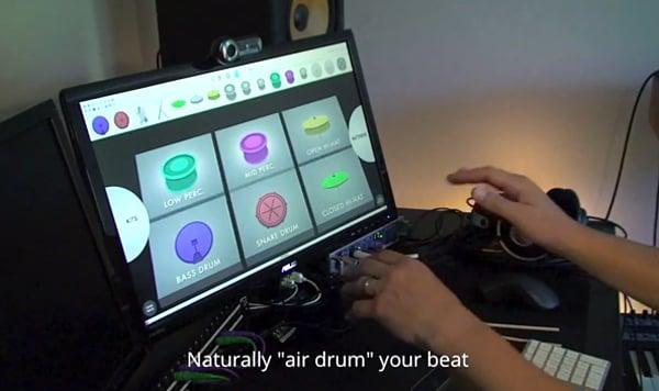 leap sensor virtual drum machine airbeats. Black Bedroom Furniture Sets. Home Design Ideas