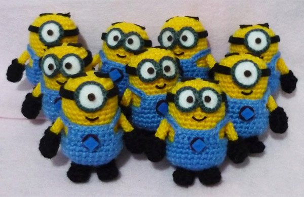 Crocheted Minions  Deable Amigurumi