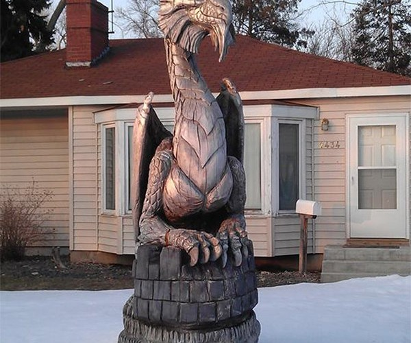 Guy Turns Trees into Dragons: Edward Chainsawhands