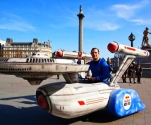 Homemade Soapbox Starship Enterprise: To Boldly Go on Grocery Runs