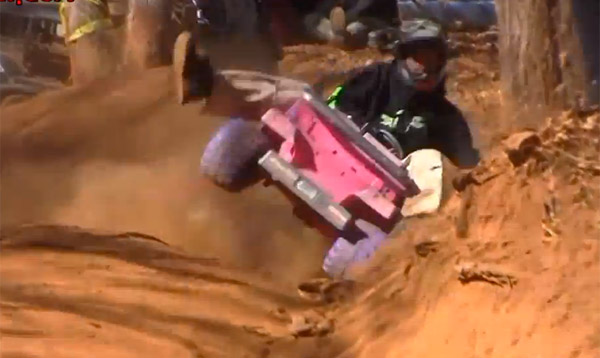 extreme barbie jeep racing