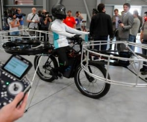 Flying Bike Will Get You out of a Traffic Jam
