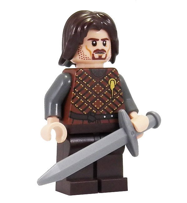 game of thrones eddard stark lego minifig