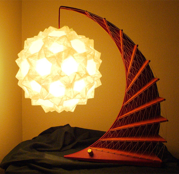 Geometric Origami Lamps: Folding Light
