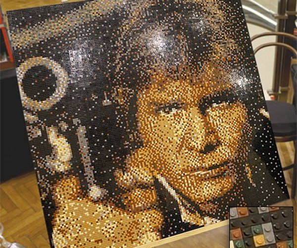 Han Solo LEGO Portrait: Better Than Being Trapped in Carbonite, I Suppose.