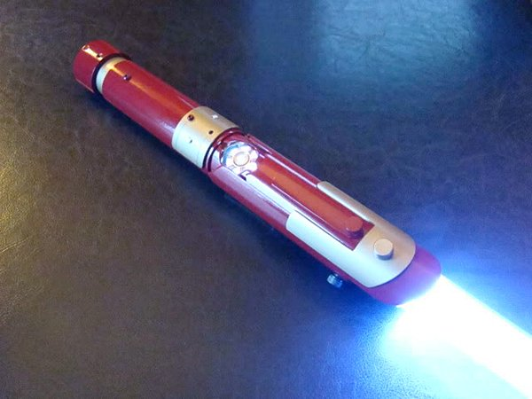 Iron Man Lightsaber: The Arc Reactor is Strong With This One