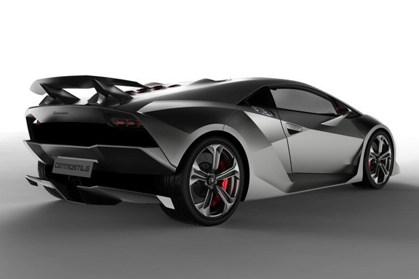 lamborghini sesto elemento hypercar back photo
