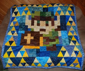 Legend of Zelda Quilt: It's Dangerous to Nap Alone, Take This!