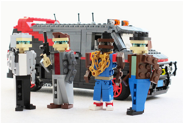 80s Pop Culture LEGO Vehicles: Ridin' Retro