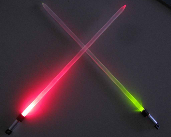 lightsaber knitting needle by random canadian