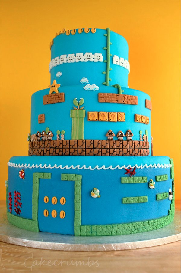 Super Mario Bros Layer Cake I Mean Level Cake Technabob