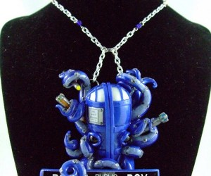 TARDIS Octopus Necklace: Eight Arms to Hold You Through Time and Space