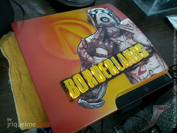 playstation 3 casemod 1 borderlands by jriquelme