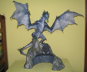 Paper Skyrim Frost Dragon: Made from The Elder Scrolls?