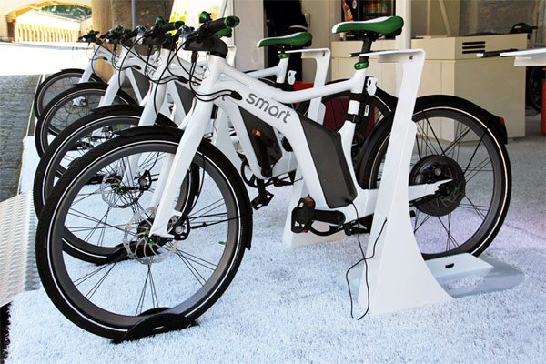 smart electric ebike bike charging photo