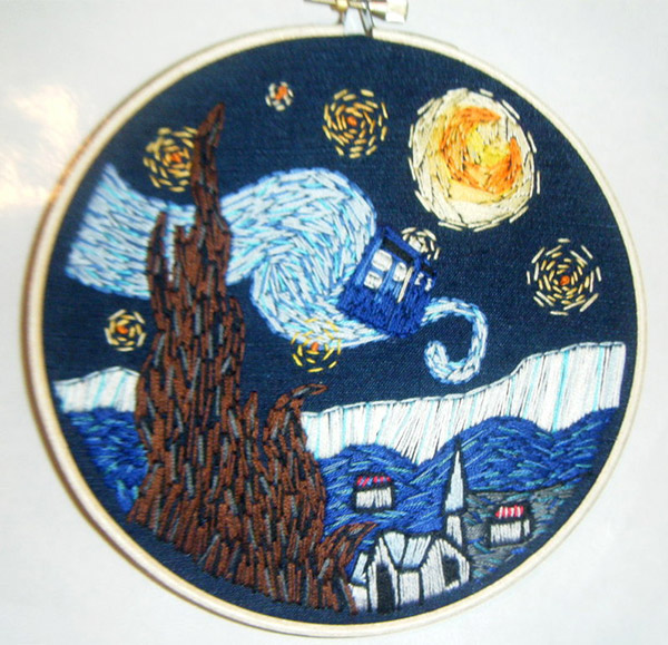 starry night tardis