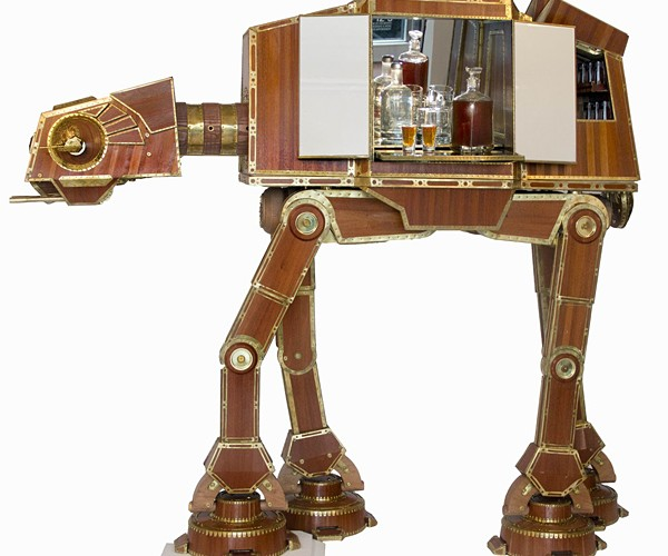 Steampunk AT-AT Liquor Cabinet: for the Lords of the Victorian Empire