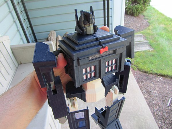 tardis prime transformer toy by andrew lindsey