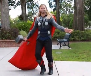 Thor Prances for Our Amusement