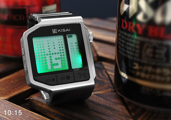 tokyoflash intoxicated kisai breathalyzer watch photo