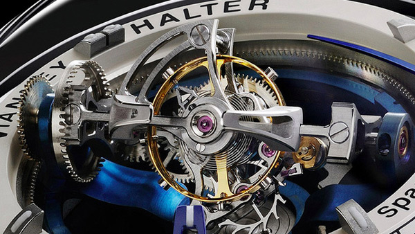 vianney halter deep space tourbillon watch close