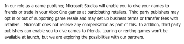 xbox one publisher policies
