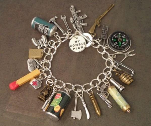 Zombie Apocalypse Charm Bracelet: Chaaaaaaains!