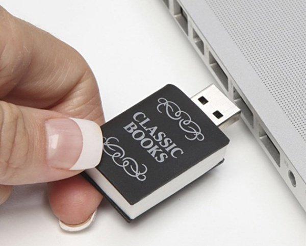 3000 Books in One Flash Drive: A Library That Fits in the Palm of Your Hand