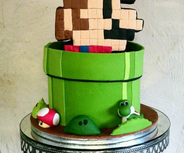 I Wish I Could Have Ate a Bit of This 8-Bit Mario Cake