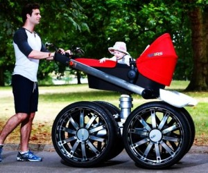 ŠKODA vRS Mega Man-pram is a Baby Stroller for Real Men