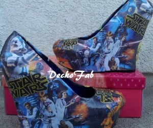Stand Tall with Star Wars Wedges and Superhero Pumps