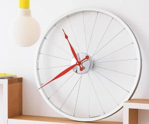 Bike Wheel Clock: Time to Stop Pedaling