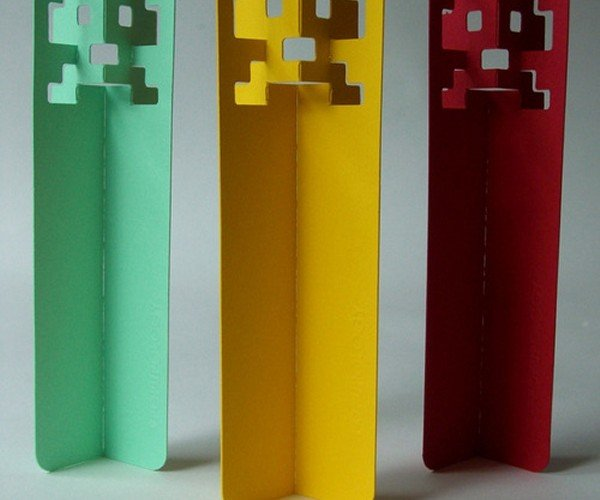 Space Invaders Bookmarks: Pew Pew Placeholders