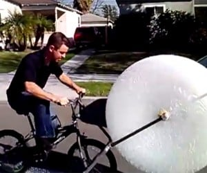 Bubble Wrap Bike: Ride the Stress Away