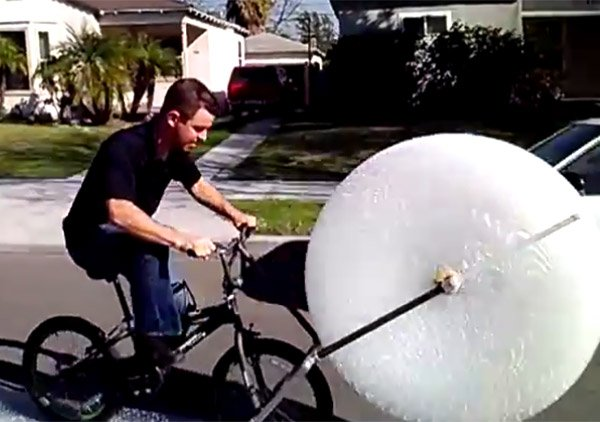 bubble wrap bike