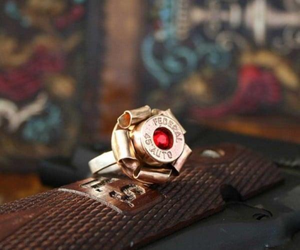 Bullet Blossom Ring: Guns N' Roses for Your Finger