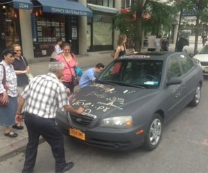 Chalkboard Car Invites Street Art and Graffiti from Passersby