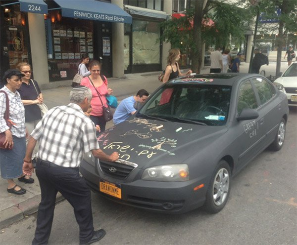 Chalkboard Car Invites Street Art and Graffiti from Passersby