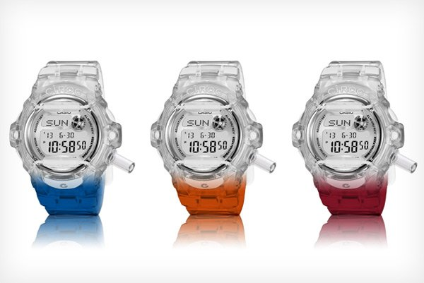 ciroc fake g-shock casio breathalyzer watch close colors photo
