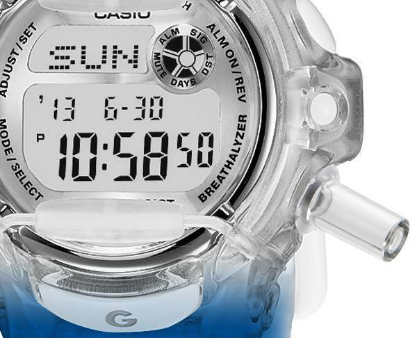 ciroc fake g-shock casio breathalyzer watch close photo