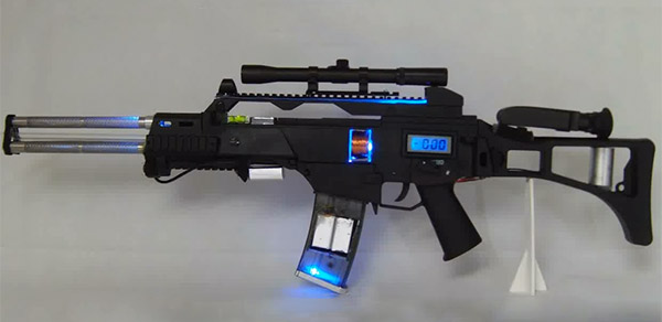 Custom G36 Coilgun Energy Weapon: Bang to the Future