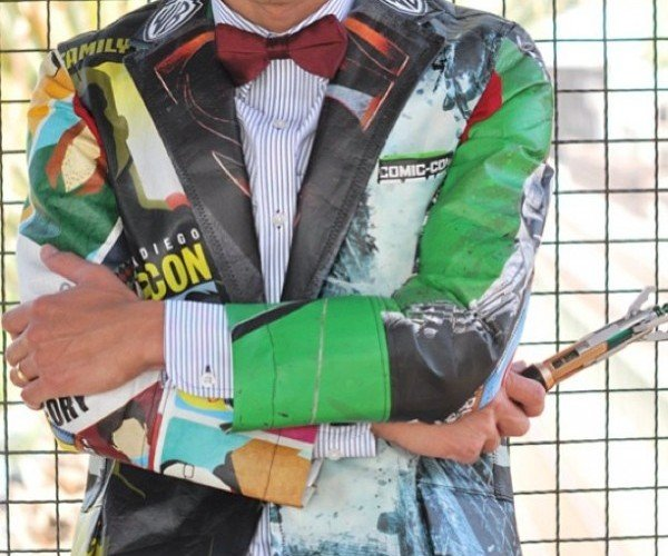 Jacket Made from Comic-Con Swag Bags: Geek Chic