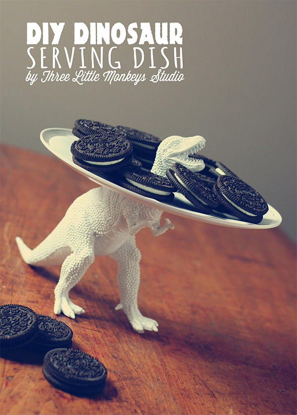 dinosaur serving dish