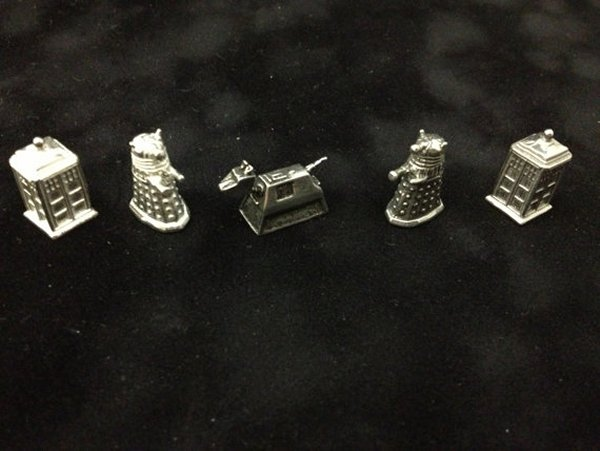 Doctor Who Monopoly Tokens. What? No Bow Tie?