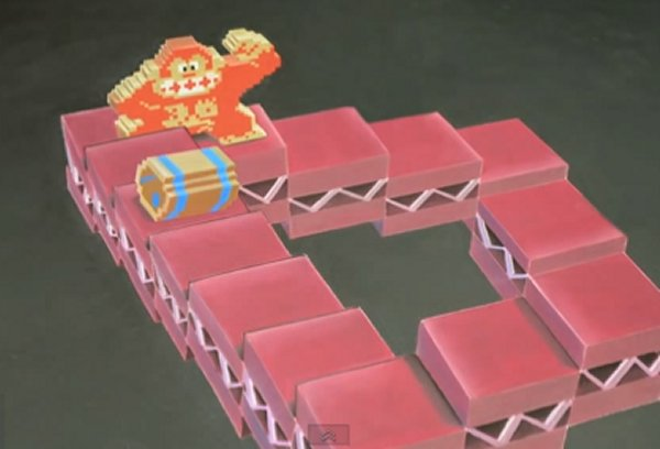 Donkey Kong M.C. Escher Animated Chalk Art