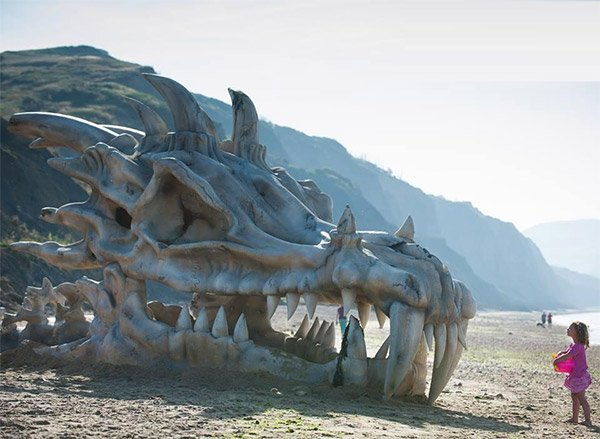 dragon on beach 1