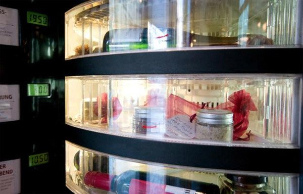 Luxury Vending Machine Dispenses Champagne Wishes and Caviar Dreams