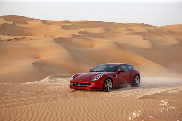 ferrari ff luxury coupe v12 supercar dunes photo