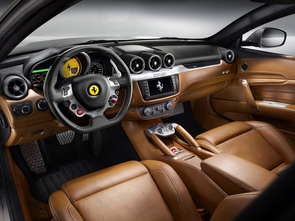 ferrari ff luxury coupe v12 supercar interior