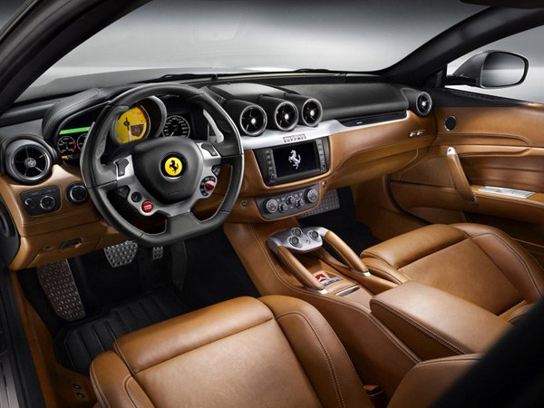 ferrari ff luxury coupe v12 supercar interior photo